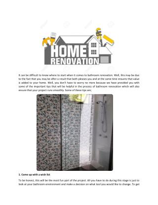 5 Key Tips on How to Determine Bathroom Renovation