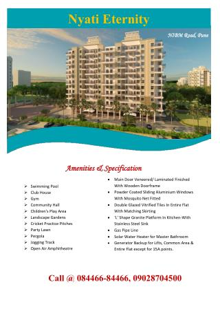 Flats for sale in Nyati Eternity Phase 4 at NIBM Road Pune