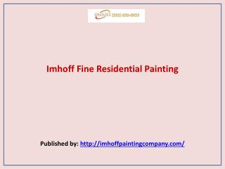 Imhoff-Imhoff Fine Residential Painting