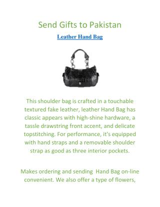 Send Gifts to Pakistan | Leather Hand Bag