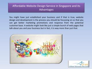 Affordable Website Design Service in Singapore and its Advantages