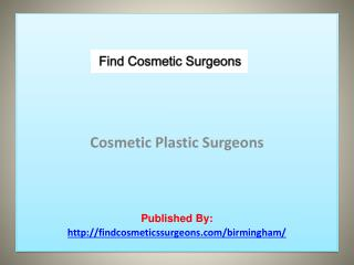 Find Cosmetic Surgeons-Cosmetic Plastic Surgeons