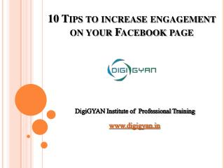 10 Tips to increase engagement on your Facebook page