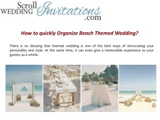 How to Organize a Beach Themed Wedding