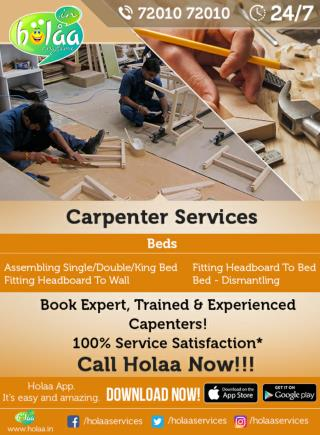 Carpenter Services? It's Easy to Find If You Work With Holaa Carpenter Services in Chandkheda.