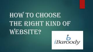How to choose the right kind of website?