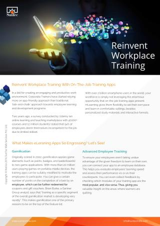 Reinvent Workplace Training With On-The-Job Training Apps