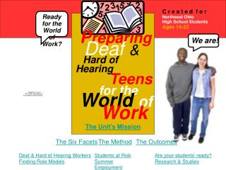 P reparing Deaf & Hard of Hearing Teens for the World of Work