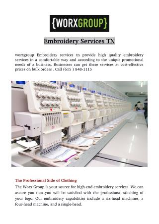 Embroidery Services TN