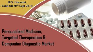 10% Discount on Personalized Medicine Market(Valid till 30th Sept 2016)
