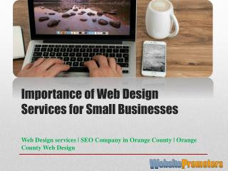 Importance of Web Design Services for Small Businesses