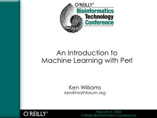 An Introduction to  Machine Learning with Perl