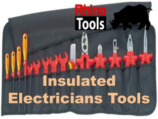 Insulated Electricians Tools with Guranty
