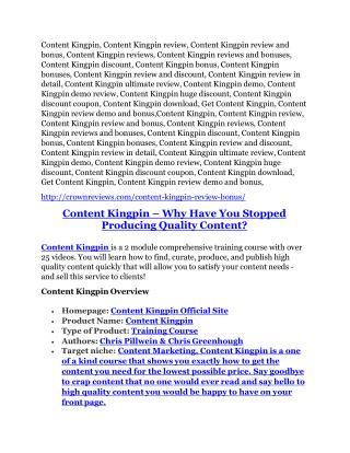 Content Kingpin Review and Premium $14,700 Bonus