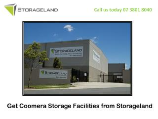 Get Coomera Storage Facilities from Storage land
