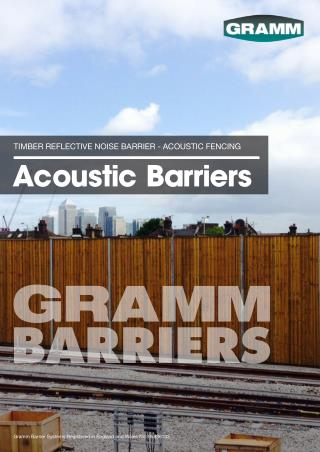 Timber Reflective Noise Barriers specification- Acoustic Fencing