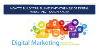 How to Build Your Business With the Help of Digital Marketing – Karun kaura