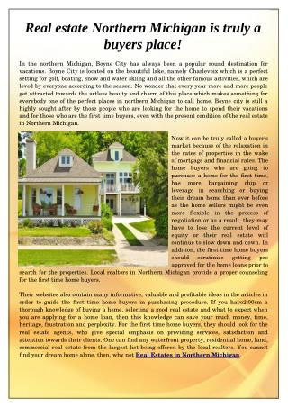 Real Estate Northern Michigan
