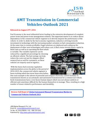 Global AMT Transmission in Commercial Vehicles Outlook 2021