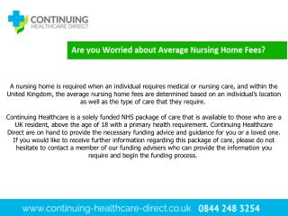 Average Nursing Home Fees - Continuing Healthcare Direct