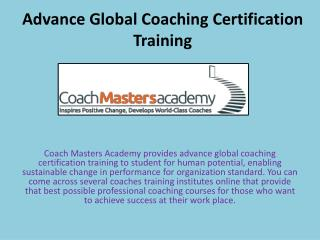 Advance Global Coaching Certification Training