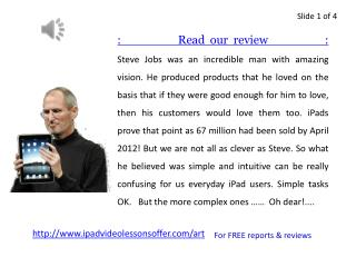 Read our FREE reports & reviews on iPad Video Lessons