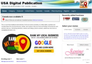 USA digital publication - Great local business directory