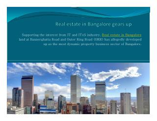 Real estate in Bangalore gears up