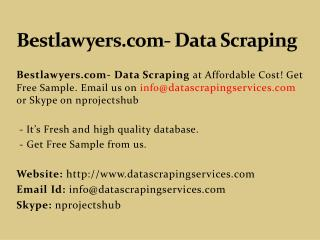 Bestlawyers.com- Data Scraping