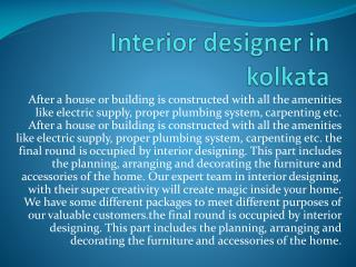 Interior Designer in Kolkata