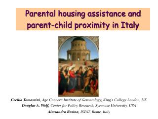 Parental housing assistance and parent-child proximity in Italy