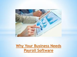Why Your Business Needs Payroll Software?