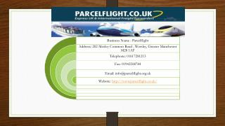 International Import Parcel Delivery and International Courier Services – Parcel Flight Offers the Best Solutions