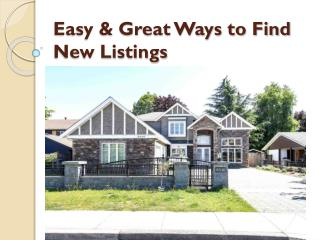 Looking for the New Listings in Vancouver?