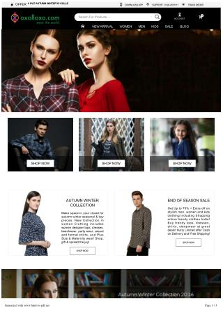 Online clothes shopping - Shop fashion apparel, women, men,  kids clothing, online clothing store in India | oxolloxo.co