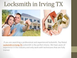 Locksmith in Irving TX