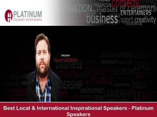 Best Local & International Inspirational Speakers - Platinum Speakers