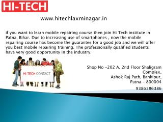 Mobile Repairing Course & Training institute in Patna, Bihar