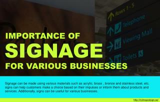 The benefits of using signs for various businesses