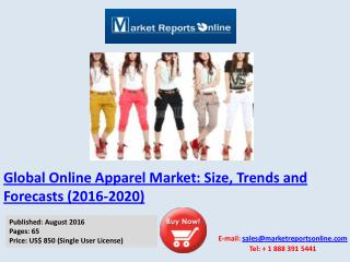 Online Apparel Market: 2016 Global Trends, Growth Drivers and 2020 Forecast