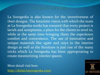 La Sorogeeka Interior Design