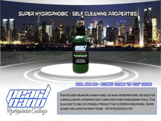Pearl Nano ceramic coating with self cleaning properties.