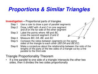 Proportions  Similar Triangles