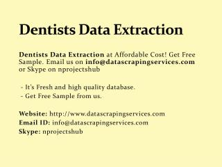 Dentists Data Extraction
