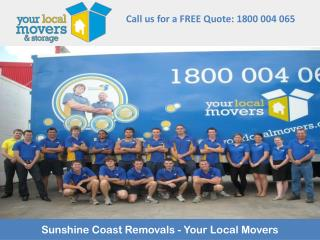 Sunshine Coast Removals - Your Local Movers