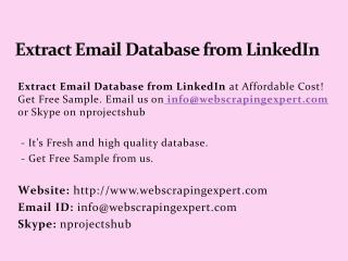 Extract Email Database from LinkedIn