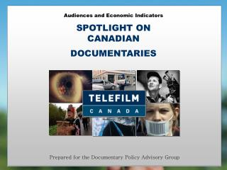 Audiences and Economic Indicators SPOTLIGHT ON CANADIAN  DOCUMENTARIES