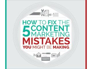 How To Fix Your Content Marketing Mistakes?