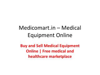 Free listing service for buying, selling, donating, new and used home medical equipment