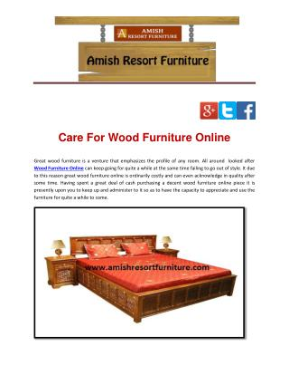 Care For Wood Furniture Online